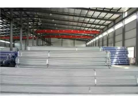 Galvanizing plant for scaffolding