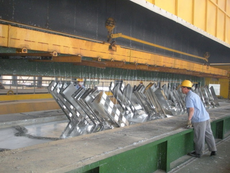 Zinc galvanizing kettle
